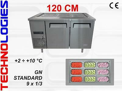 Refrigerated Salad Table Fridge Bar Pizza Kebab Catering 120Cm - New In Stock !