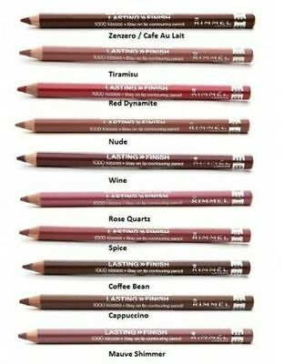 RIMMEL  Lipliner Pencil 1000 KISSES Ultra Intense Color-Long Wear Wood Pencil