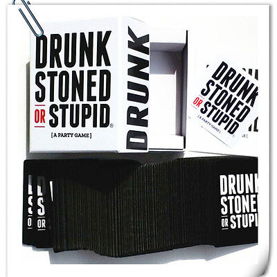 DRUNK STONED OR STUPID Tricky Toys Family Funny Entertainment Board Game Cards