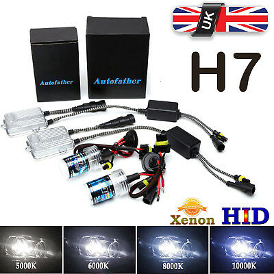 2X H7 HID Xenon Conversion Replacement Bulbs DRL Headlights Lamp All Colors 55W