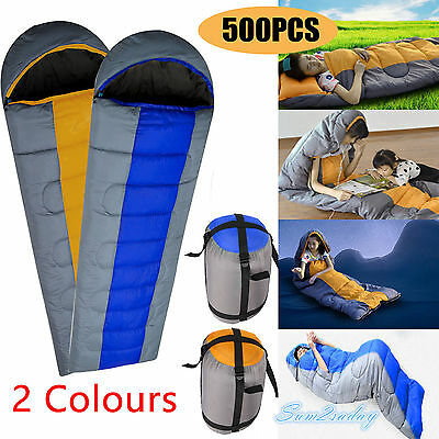 500 X 3-4 Season Adult Waterproof Camping Hiking Suit Case Envelope Sleeping Bag