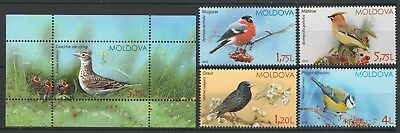 "Moldova 2015 Birds ""Birds of Moldova"" 5 MNH stamps"