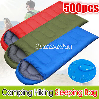 4 Seasons Single Adult Camping Hiking Suit Case Envelope Sleeping Bag Waterproof