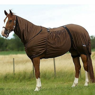 Sweet Itch Fly Rug UV Horse Protection Belly Full Neck Eczema Sheet Size 4'3-7'0
