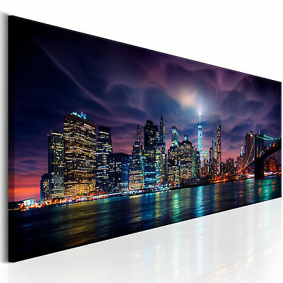 wandbilder xxl new york skyline stadt leinwand bilder wohnzimmer d b 0155 b a picclick de. Black Bedroom Furniture Sets. Home Design Ideas