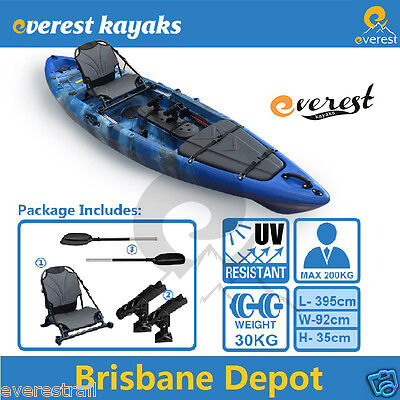 4M Single Sit-On Professional Fishing Kayak Package Brisbane North