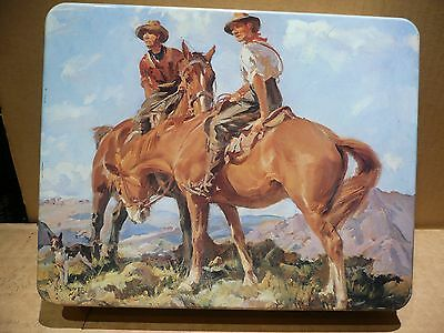 "Large Vintage 1980 Arnotts Tin Picturesque  "" Mustering """