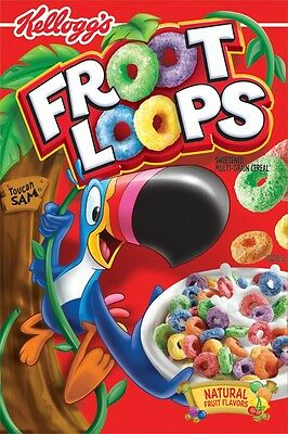 Fruit / Froot Loops American Cereals 345g 2 BOXES - American Import