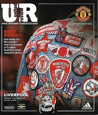 MANCHESTER UNITED v LIVERPOOL Premier League 2015/16 MINT