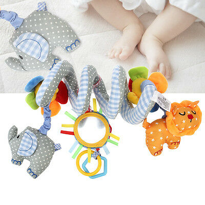 Musical Pram Cot Spiral Rattles Toddler Newborn Baby Crib Mobile Bed Bell Toys