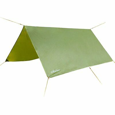 Waterproof Tarpaulin for Camping Rain Tarp Tent Compact Strong Green Cover 3x 3m
