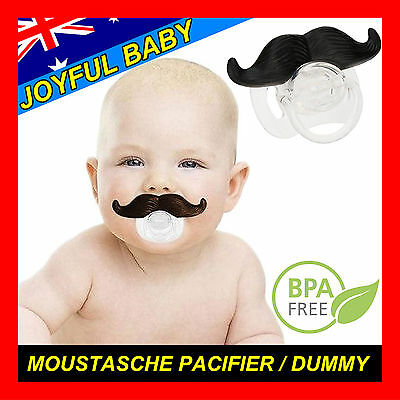 Mustache Dummy Pacifier Boss Baby Funny Novelty Orthodontic Infant Newborn