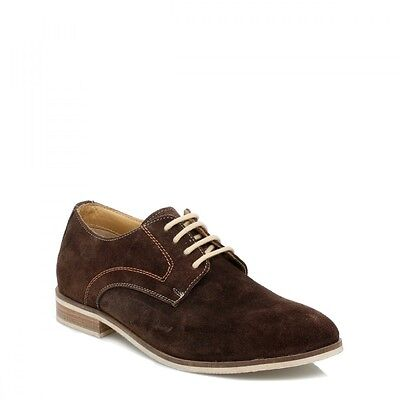J.G.Harrisons Mens Brown Suede Shoes, Lace Up Smart Casual