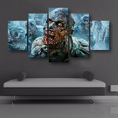 Modern Abstract Oil Painting Wall Decor Art Poster HD Print resident Evil Zombie