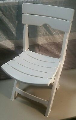 White Garden Chair Plastic Folding Outdoor Furniture Patio Porch Home