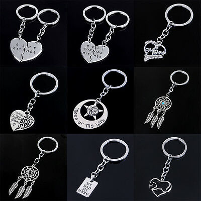 Horse Best Friend Mom Dad Key Chain Ring Silver Keychain Keyring Charm Gifts New