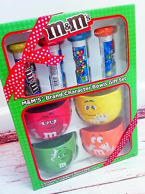 New M&M's Brand Character Bowls Yellow Red Orange Green Set of 4