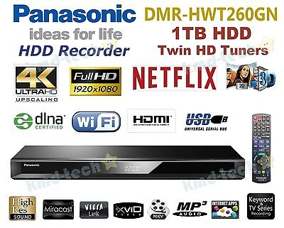Panasonic 4K Uhd Smart Network 1Tb Hdd Recorder Twin Tuner Dmr-Hwt260Gn Rrp$549