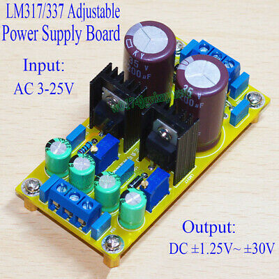 finished lm317 lm337 ac dc adjustable regulated power supply module