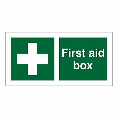 FIRST AID BOX SIGN  200mm X 100mm. SELF ADHESIVE