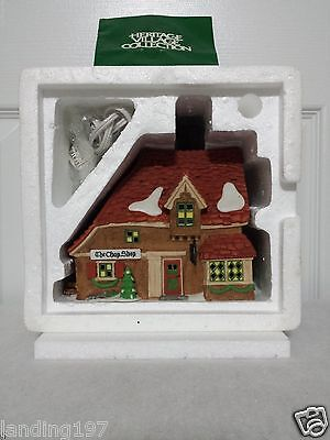 """Dept 56 Dickens Village 58331 """"The Chop Shop"""" w/box New Condition"""