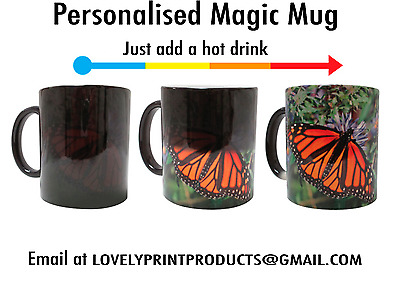 PERSONALISED Magic Mug Cup HEAT Changing with your PHOTO Tea Drink Gift Custom