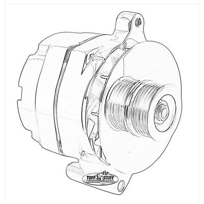 Ford 1g Style Chrome 1 Wire 110 Amp 10si Conversion Alternator 1