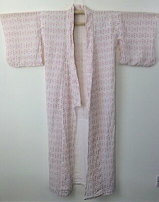 Authentic Japanese cotton nemaki for women, dressing gown, good cond. (M1155)