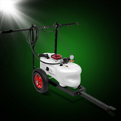 Weed Sprayer 60L Tank With Heavy Duty Trailer & Rear Boom