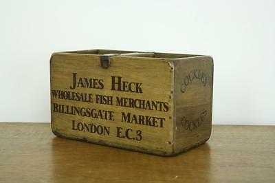Vintage Wooden Fish Crate Trug Box Industrial Planter S42 Cockles London