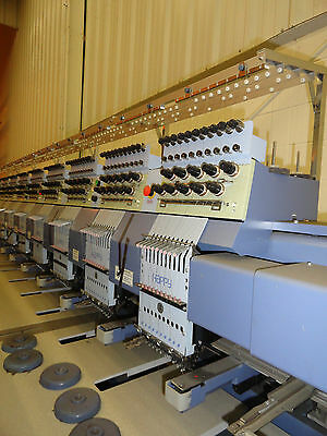 Happy 12 Station / 9 Needle / 9 Color Embroidery Machine - Used