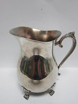 Silver Plated A1 Large Pitcher Jug Ewer Holds 64 Ounces Of Juice Water Milk Tea