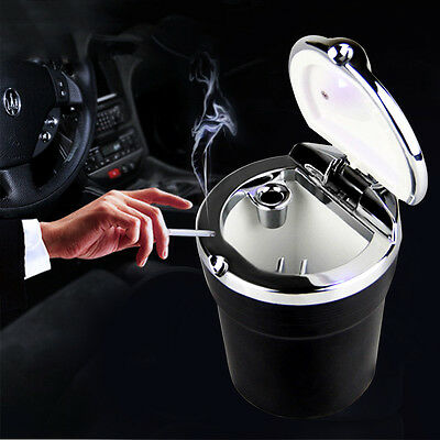 Self-cleaning Vehicle Car Cigarette Ashtray Smoking Smokeless LED Ash Cup Holder