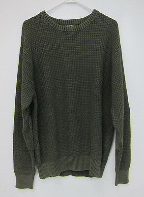Orvis Deerfield Crew Neck Sweater - Mens Large - Hunter Green - New