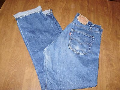 VINTAGE LEVIS 505 0217 XX JEANS made in USA 34 x 32 nice fade & patina