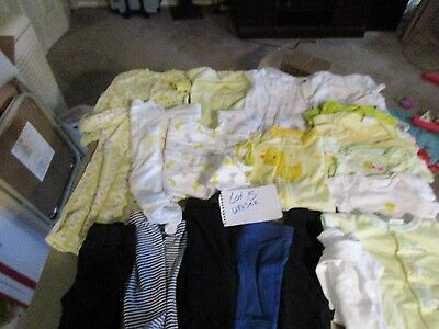 Lot 24 Pcs Baby Girl Or Boy Clothes Gowns Sleepers Pants Shirts Oneies Sz 0-3 3M