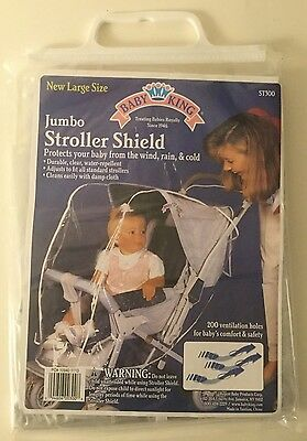NEW JUMBO Baby Stroller Rain Cover Wind Protect Outdoors Baby King Shield