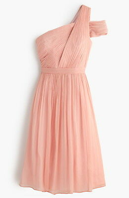 J Crew Misty Rose Cara Dress Silk Chiffon Bridesmaid Homecoming C8932 Nwt 6 14