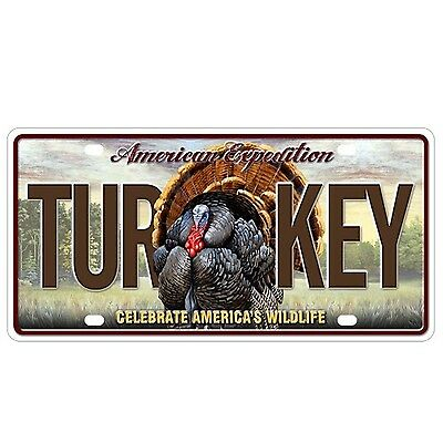 American Expedition Wild Turkey License Plate NEW