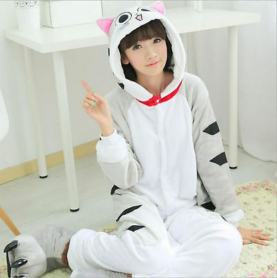 Hot Cat Costume Unisex Adult Pajamas Kigurumi Cosplay Animal Sleepwear