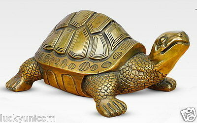 11cm Lucky Chinese copper statue of tortoise/feng shui statues