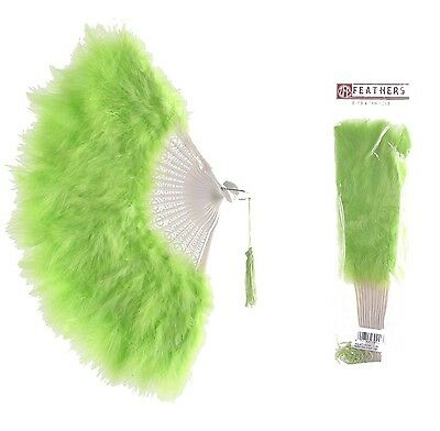 Zucker Feather Products Large Marabou Feather Fan Lime NEW