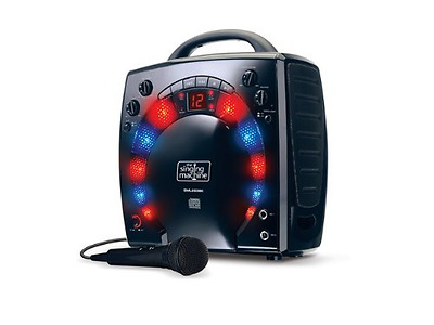Singing Machine SML-283 Portable CD-G Karaoke Player And 3 CDGs Party Pack Black