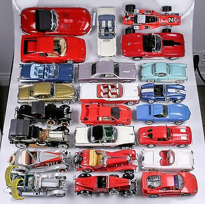 Lot of 23 Classic Collectible Model Cars w/ Some Paperwork (Franklin, Danbury)