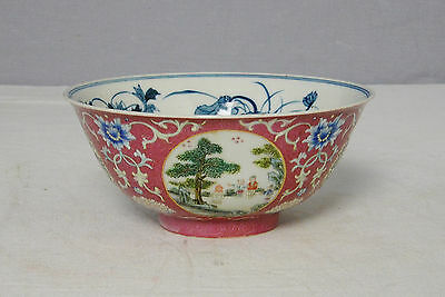 Chinese Famille Rose With Blue and White Porcelain Bowl With Mark      M2088-2