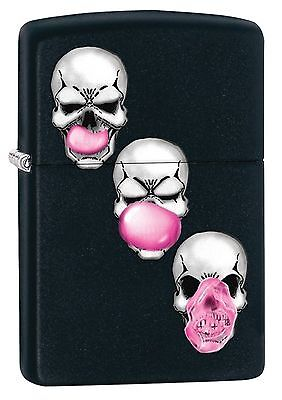 Zippo Windproof Bubble Blowing Skulls Lighter, 29398, New In Box