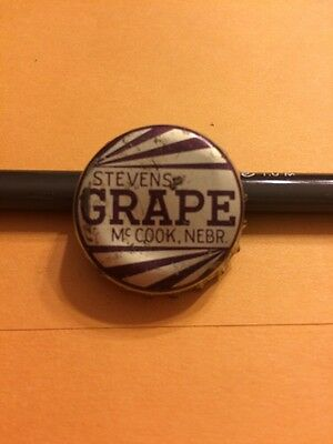"VIntage ""Stevens Grape"" Soda Bottle Cap-McCook, Nebr.-Used Cork Lined"