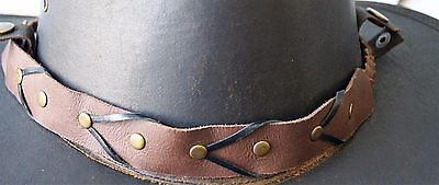 hat band / choker / necklace  genuine Leather hat band