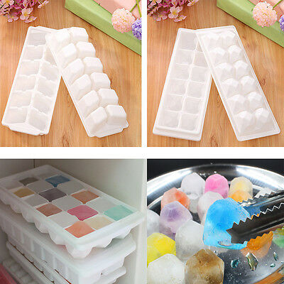 Diamond Shape Plastic Ice Tray Jelly Soap Mold Pudding Cube Topper Mould Tools