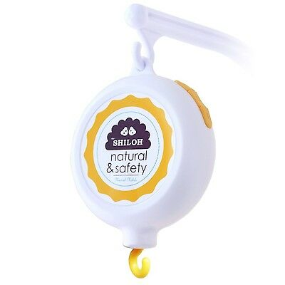 SHILOH Baby Musical Mobile Battery-operated 60 Songs White NEW